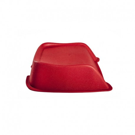 Red booster seat