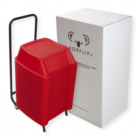 Pack of 36 units of red theatre booster seats